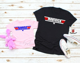 747f3fa0 Maverick And Goose Shirts, Father Daughter Shirts, Top Gun Baby, Top Gun  Shirt, Maverick Goose Father Son, Couples Shirts, AppleCopter