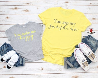 3a4a63904d You Are My Sunshine Shirt, Mommy And Me Shirts, Mother Daughter Shirts, Mom  And Baby Shirts, Sibling Shirts, Newlywed Shirts, Applecopter