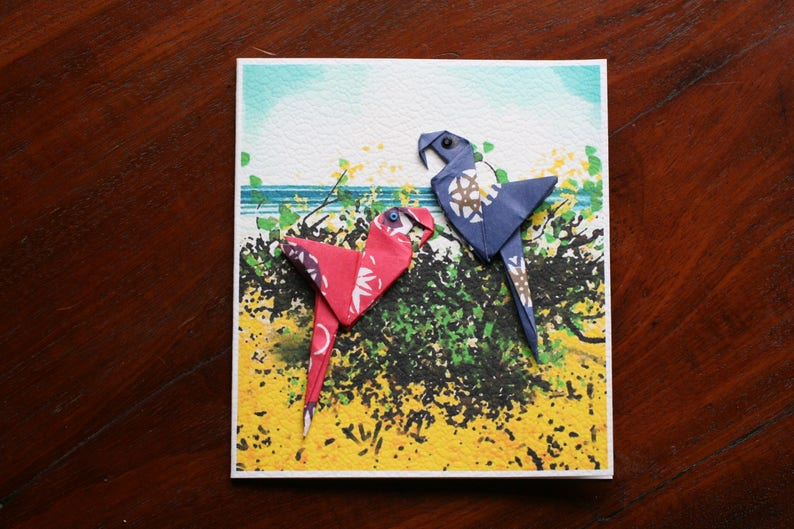 Suitable for all Occasions Birthday Good Luck, Congratulations Best Wishes Origami Artisan Greetings Cards