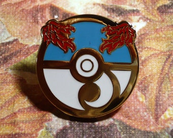 Pokemon Rococo Baroque Art Nouveau Inspired Rococoball Great Ball Hard Enamel Lapel Pin Rococopunk Georgian Cloisonne
