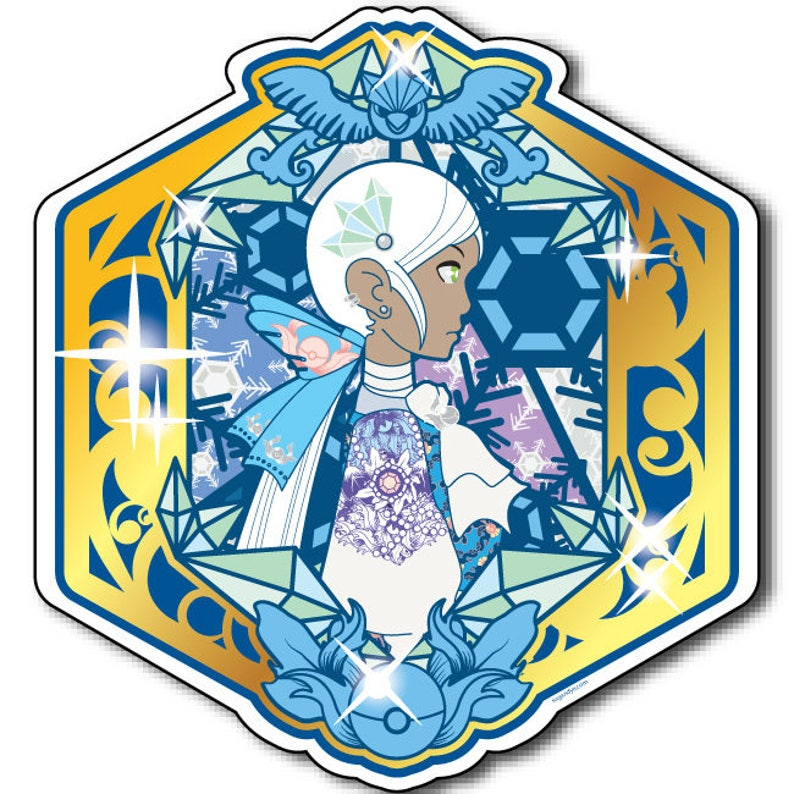 Rococo x Pokemon Go Blanche Team Mystic Vinyl Kiss Cut 2 in image 0