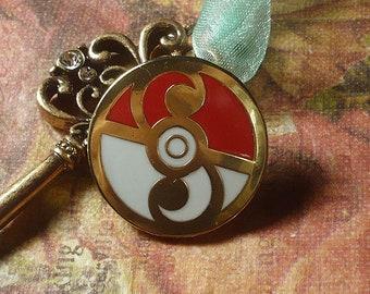 Pokemon Rococo Baroque Art Nouveau Inspired Rococoball Pokeball Hard Enamel Lapel Pin Rococopunk Georgian Cloisonne