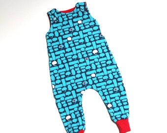Baby Romper Boy Girl Patterned Dungarees, Baby Romper Baby, Long Romper, Baby Dungarees, Boy Romper, Girl Romper