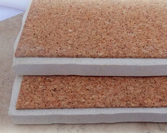 """3 1/2"""" x 3 1/2"""" Pack of 10 or 20  - Cork Squares Cork Tile Backing With Adhesive For Coasters & Other Craft Projects"""
