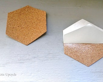 Hexagon Cork Etsy