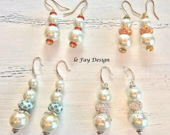 Elegant earrings, 4 designs to choose from,strass rondelle, earrings, Swarovski crystals