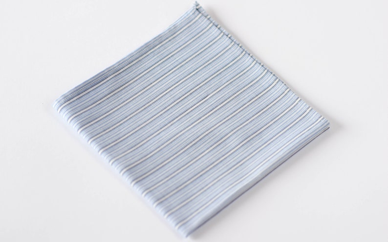 d8e51dfaab17e Blue White Pocket Square Striped Pocket Square Cotton Pocket   Etsy