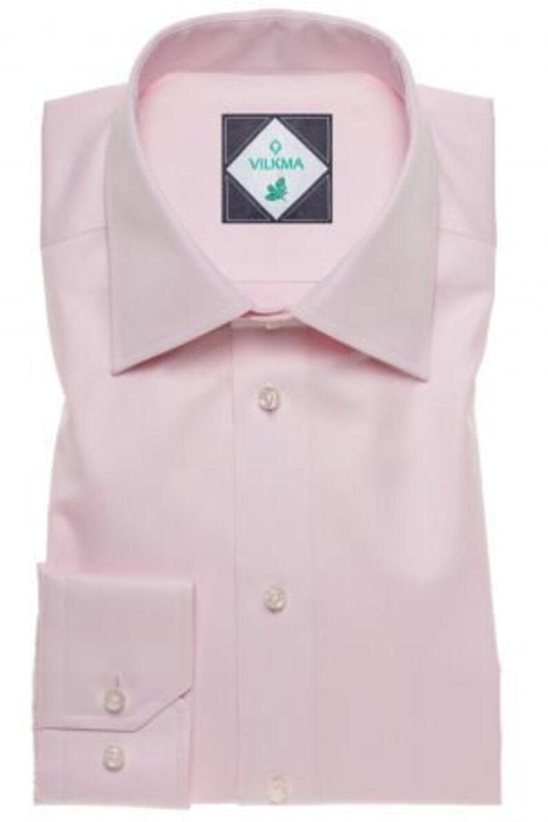 Cotton Regular Slim Fit Men Shirt for Groom Groomsmen Pink Formal Men Shirt Men Business Office Shirt Gift Rustic Boho Wedding Shirt