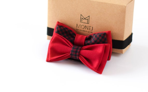 Boy Bow Tie Set Red Kid Baby Bowties Gift
