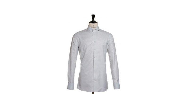 Retro Boho Wedding Shirt Cotton Easy Care Shirt for Groom Groomsmen Formal Business Office Men Shirt White Plaid Men Shirt