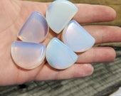 Opalite Double Flared Half Moon Smile Odd Shape Saddle Plugs (Pair) 16mm (5 8 quot ) 18mm 11 16 quot 20mm 22mm ( 7 8 quot ) 25mm (1 quot ) 28mm 30mm 32mm