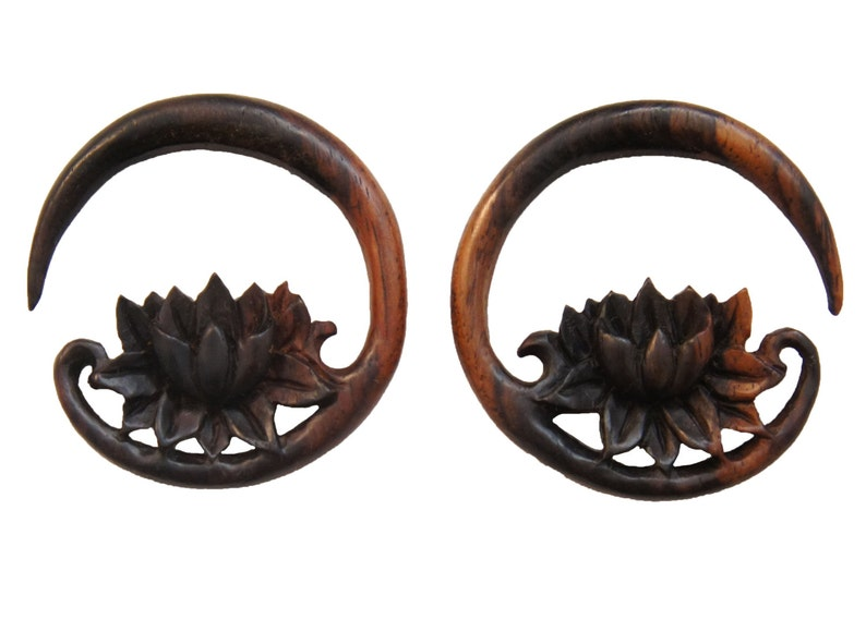 6mm 6g 00g 4g 14mm 2g 0g 5mm 8mm 1116 12mm 12 916 4mm Sono Wood Circular Lotus Flower Hangers 18mm 10mm