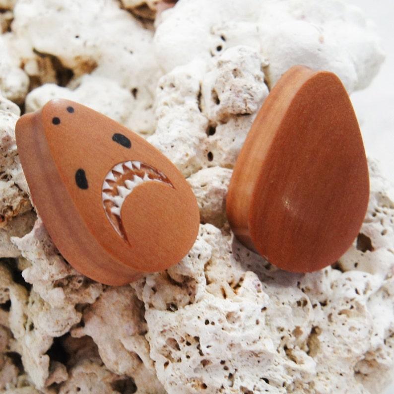 12mm 00G 1316 22mm 78 916 Pair Sawo Wood Teardrop Shark Plugs 10mm 58 12 1116 18mm 20mm 25mm 1 16mm 14mm