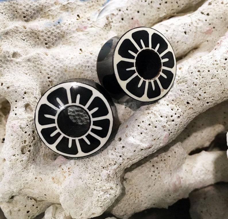 PAIR Opalite Ear Gauges Ear Plugs Flesh Ear Tunnels Organic Ear Gauges 4g 00g