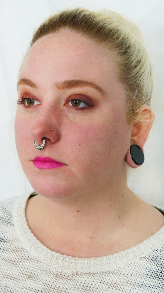1 2mm 16g Septum Ring 10mm Nose Bull Hoop Body Piercing Etsy