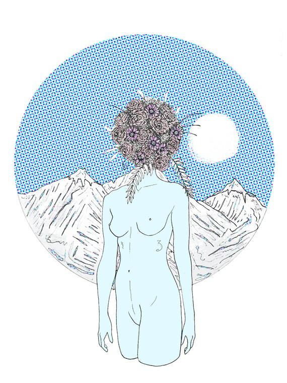 Mountain nude art