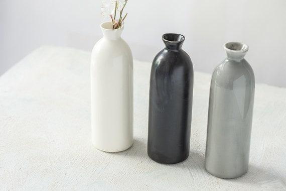 Pottery Vase Set Of 2 Ceramic Vase Modern Ceramic Vessel Etsy