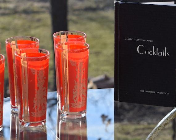 Vintage Culver Cocktail Highball Collins Glasses Thai Goddess Glasses - Set of 7, Whiskey Glasses, Culver Highballs - Collins Glasses