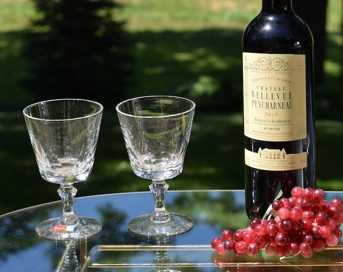 4 Vintage Claret Wine Glasses, Set of 4, Fostoria, circa 1960's, Vintage Port Wine Glasses, Small Vintage Wine Glasses, Bar Cart Decor