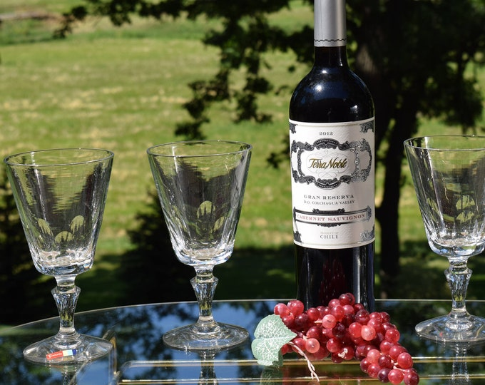 4 Vintage FOSTORIA Wine Glasses, Fostoria, circa 1965, Vintage Fostoria Water Goblets, Vintage Cocktail glasses