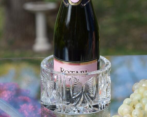 Vintage WATERFORD Champagne ~  Wine Bottle Coaster, Set of 1, Waterford, Millennium Series, Vintage Wine - Champagne Bottle Coaster