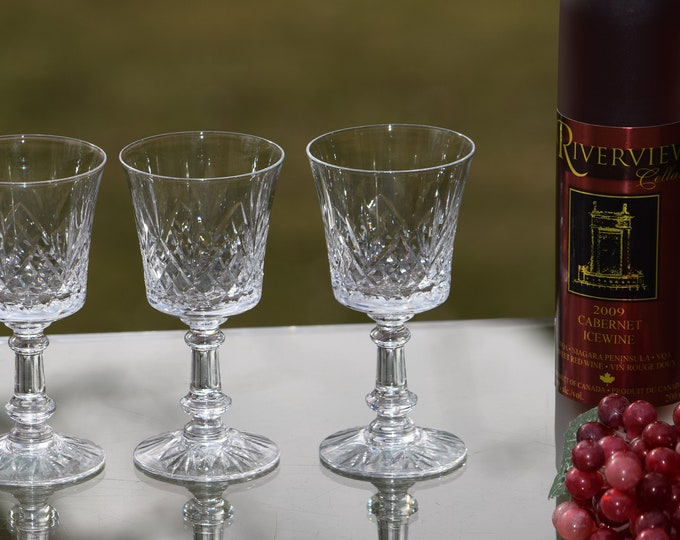 6 Vintage Etched Wine ~ Liqueur Glasses, Set of 6,  Fostoria, Wakefield, circa 1940, Vintage 4 oz After Dinner Drink ~Dessert Sherry Glasses
