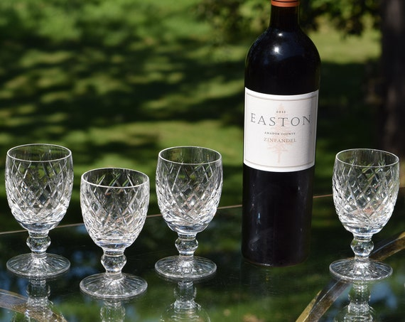 Vintage Waterford Crystal Wine Glasses, Set of 5, Waterford, Donegal, 1960's,  Vintage Waterford Crystal Claret Wine glasses, Wedding Gifts
