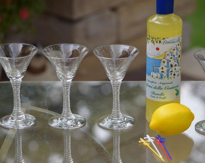 5 Vintage Wine Glasses - Liqueur Glasses,  3 oz After Dinner Drink Glasses ~ Limoncello ~ Vintage 3 oz Port Wine Cordials