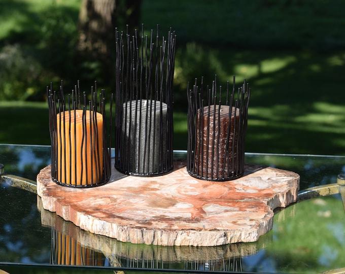 Petrified Wood ~ Stone Platter ~ ~ Home Bar Liquor Decor ~ Appetizer ~ Cheese Tray ~ ~ Petrified Wood Stone Home Decor Cocktail Barware Tray