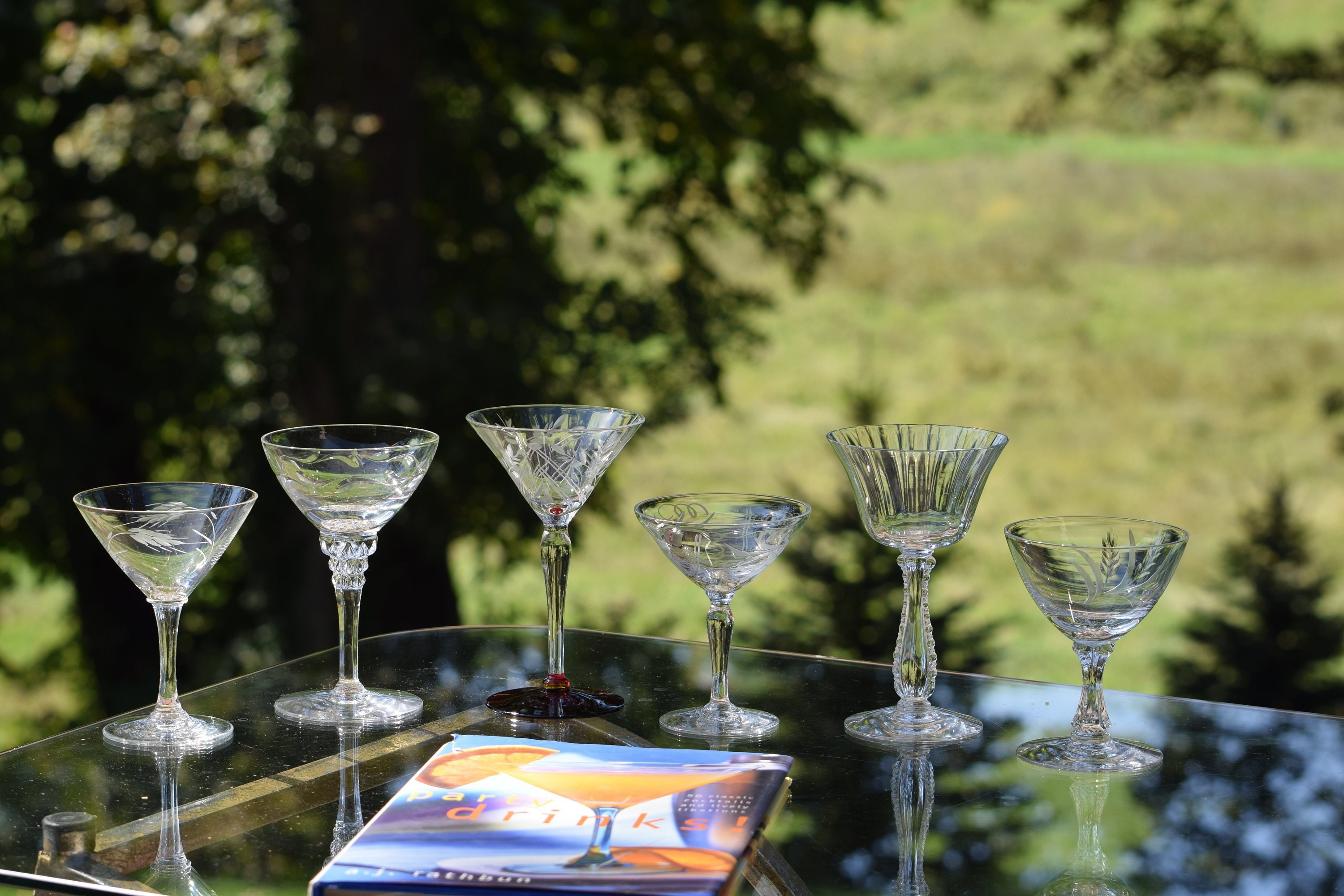 4 oz martini glasses vintage etched cocktail glasses set of 6 small oz six different glasses