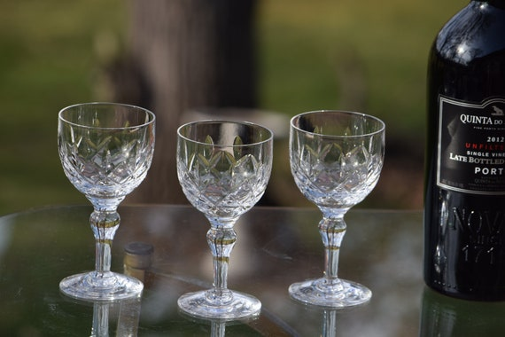 Vintage CRYSTAL Wine Glasses, Set of 5, Stuart-England 1950's, Vintage Stuart Claret 4 oz Wine Glasses, Vintage Weddings, Wedding Gifts