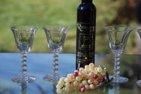 Vintage Wine Glasses, Set of 5, After Dinner Drink Glasses, 5 oz Port ~ Dessert ~ Liqueur Glasses, Wine Tasting Party glasses