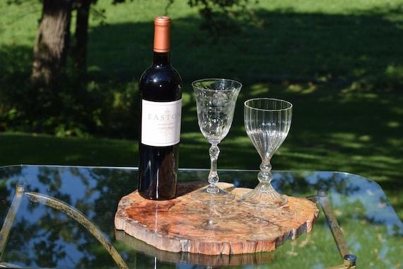 Petrified Wood ~ Stone Platter ~ ~ Home Bar Wine Platter ~ Appetizer ~ Cheese Tray ~ ~ Petrified Wood Stone Home Decor Cocktail Barware Tray