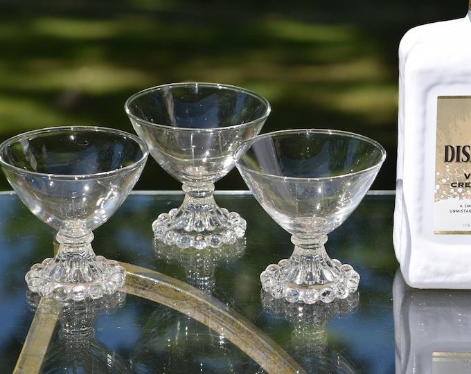 6 Vintage Cocktail Martini Glasses, Nick & Nora, Mixologist Craft Cocktail Glasses, Vintage Champagne Cocktail Coupes, Manhattan Glasses