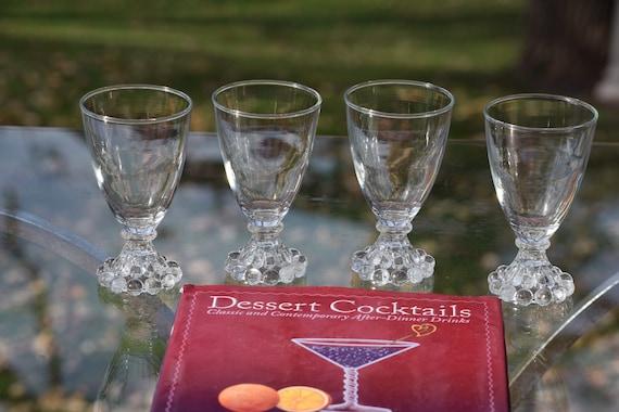 Vintage Wine Glasses - Liqueur Glasses, Set of 4, 5 oz After Dinner Drink Glasses ~ Limoncello ~ Vintage 5 oz Port Wine Glasses