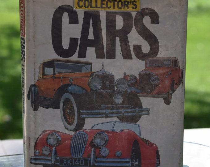 Vintage COLLECTOR'S CAR Book, Lee Culpepper, 1980's,  Vintage Books for Home Decor, Vintage Car Decor,  Man Cave Car Decor