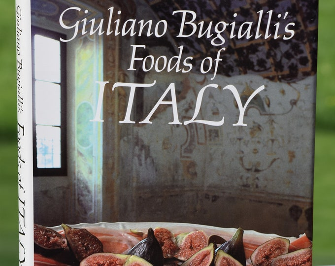 Vintage Giuliano Bugialli's Foods of Italy Book, 1984,  Vintage Books for Home Decor, Vintage Kitchen Home Decor, Vintage Italian Cook Books