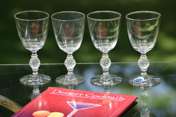 Vintage Wine Glasses, Set of 4, Imperial Glass Ohio,  circa 1949,  After Dinner Drink Glasses, 4 oz Wine Cordials