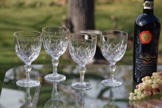 Vintage CRYSTAL Wine Glasses ~ Water Goblets, Set of 6, Stuart-England 1950's, Vintage Stuart Water Goblets, Vintage Weddings, Wedding Gifts