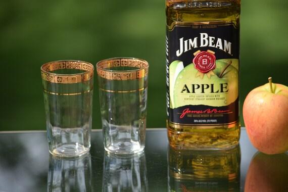 Vintage Gold Rimmed Wine ~ Liquor Glasses, Set of 7,  Vintage Gold Rim After Dinner Liquor ~ Wine Glasses, 5 oz Shot Glasses ~ Wine Tasting