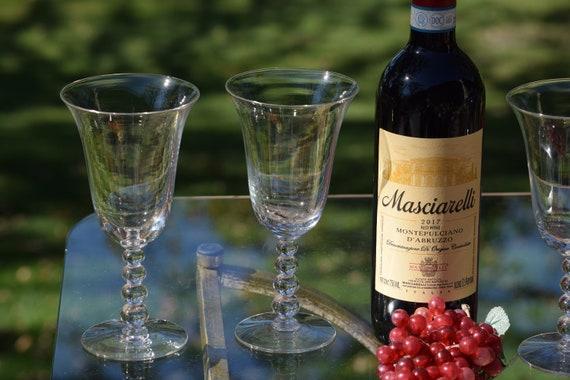Vintage Wine Glasses ~ Water Goblets, Set of 4, Candlewick, circa 1950's, Vintage Wedding Glasses, Vintage Tall 10 oz Wine Glasses