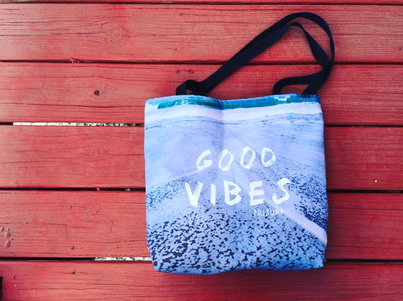 Good Vibes 15x15 weather resistant beach bag