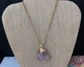 Mexican Calcite Pendant Necklace, Purple Necklace, Raw Gemstone, Stone of the Mind