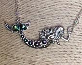 Mermaid Necklace, Swarovski Crystal Necklace
