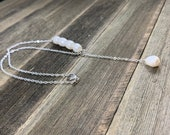 Pearl Y Necklace, Silver and Pearl Necklace, Classic Pearls