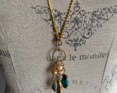 Turquoise and Gold Pearl Jewelry Set, Mother s Day Gift