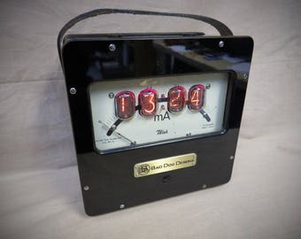 Original Old Weiss Meter Nixie Clock from Bad Dog Designs