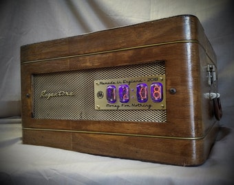 1960's Record Player Clock and Bluetooth Speaker from Bad Dog Designs - As seen on BBC 1