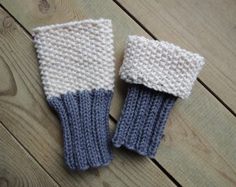 Knitting Pattern - Two In One Boot Cuff - Instand Download PDF