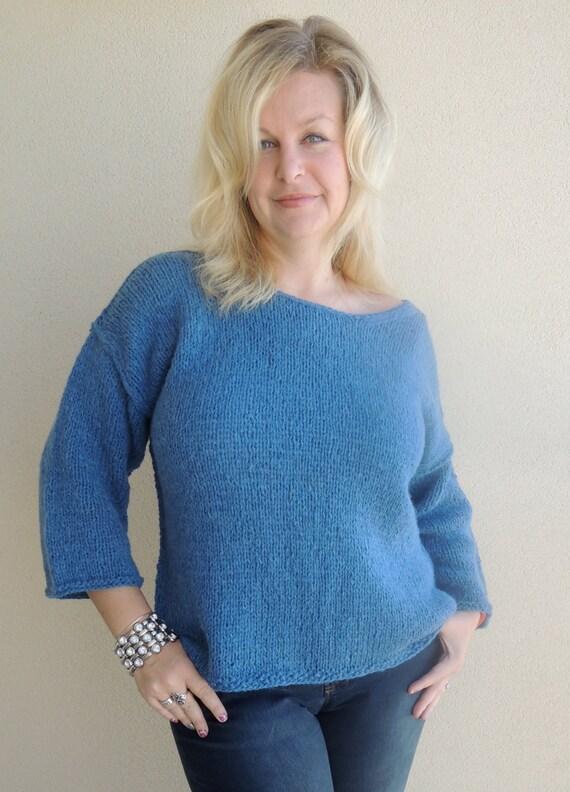 Knitting Pattern J Sweater Free People Brand Inspired Etsy